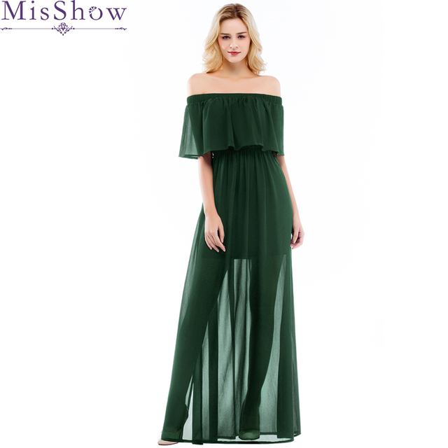 0f8eb7209837c In Stock Off Shoulder Evening Dress Women Fashion Backless Split Special  Long Evening Gown Elegant Special Occasion Dress 2019