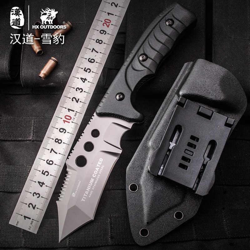 HX OUTDOORS 440C ナイフサバイバルツールステンレスナイフトレーニングナイフ titanium クール鋼防衛