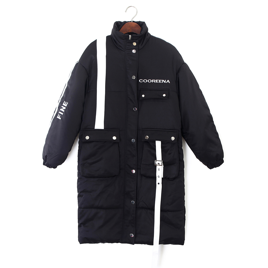 3 Colors Female Jacket Coats Black Blue Red Thick   Parkas   Women's Winter jacket long Casual Fashion Harajuku Winter Coat Female