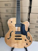 free shipping 6 string archtop guitar customize logo 18 inches handmade archtop jazz guitar 7 string jazz electric guitar