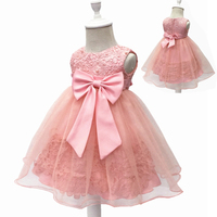 Free Shipping Cotton Lining 2T 12T Kids Party Dress 2017 New Arrival Flower Girl Dresses For