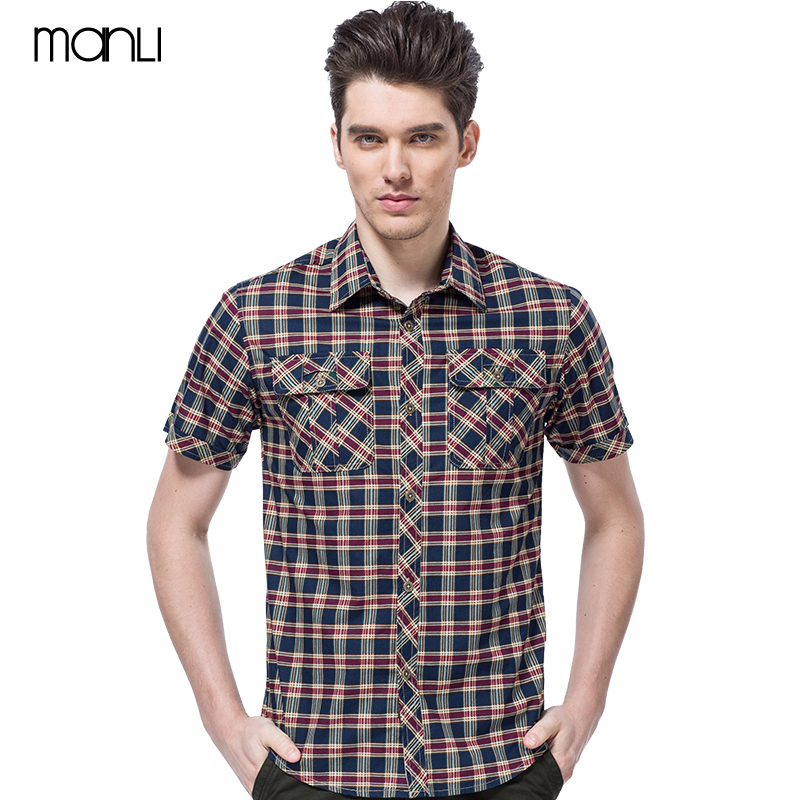 MANLI Outdoor Men's Military Shirt Summer Cotton Breathable Sports Fishing Shirts Trekking Camping Hiking Male Thin Clothing