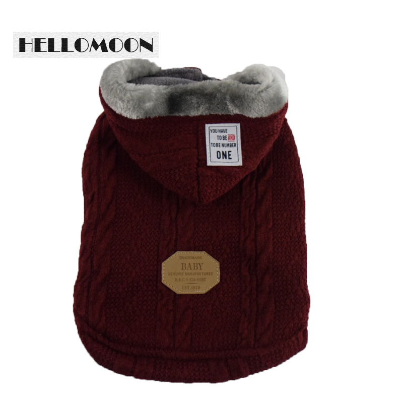 Helllomoon ropa perro Mustache Two legs Cotton Clothes Solid Winter Dogs Clothes mascotas ropa perros dog sweaters