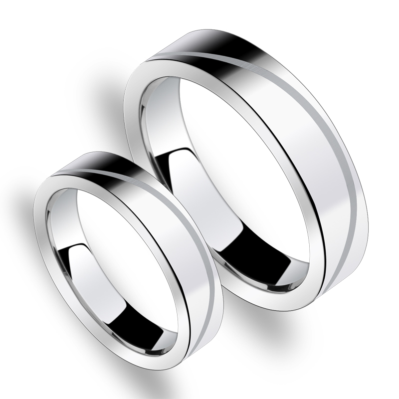 Free Engraving Scratch Proof Tungsten Carbide Engrave Ring Set Pair Matching Engagement 5mm and 3 5mm