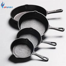 UPSPIRIT чугунная антипригарная 14-20 см сковорода с длинной ручкой для жарки газовая, индукционная плита для яиц блинов кастрюля кухонная и столовая посуда инструменты