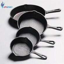 Panqueca antiaderente de ferro fundido upspirit, frigideira para gás, indução, panquecas e ovos de 14 20cm utensílios de cozinha e jantar