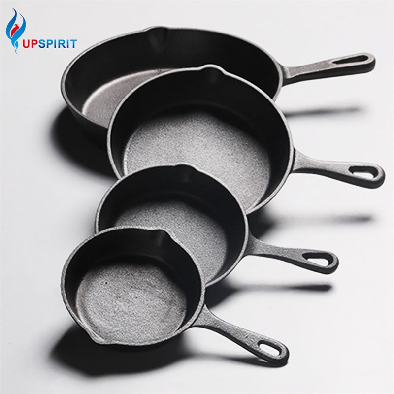 UPSPIRIT Gusseisen Nicht-stick 14-26CM Pfanne Braten Pan für Gas Induktion Herd Ei Pfannkuchen Topf küche & Speise Tools Kochgeschirr