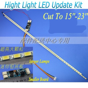 Universal Highlight Dimable LED Backlight Lamps Update kit Adjustable LED Light For LCD Monitor 2 LED Strips Free Shipping