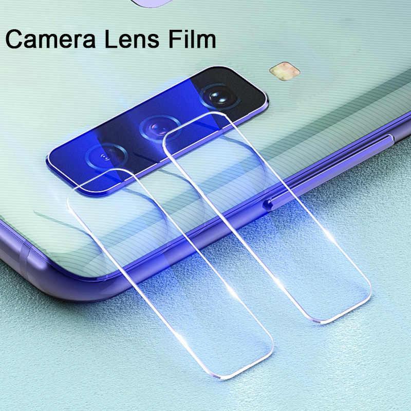 Vidro temperado para samsung a6 2018 a8 2018 a9 2018 lente da câmera de vidro claro voltar câmera protetor de tela película protetora