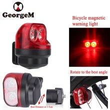 GeorgeM магнитной индукции для верховой езды Предупреждение горный велосипед свет Велоспорт сзади спереди Хвост колеса свет с держателем велосипед аксессуар