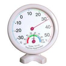Мини круглые часы-образный Крытый Открытый гигрометр Влажность термометр измеритель температуры