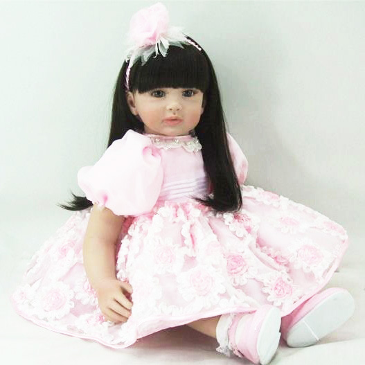 Vinyl silicone reborn baby dolls accompany doll lifelike princess toddler doll kid high-end christmas birthday boutique gifts sd bjd plastic lifelike princess girl doll dressing exercise doll for kids high end christmas new year gift boutique collection