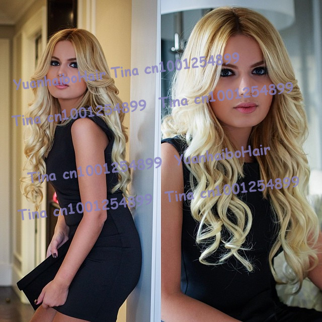 best 6a quality 10 30inch two tone 1bT 613 virgin brazilian loose wave ombre lace front