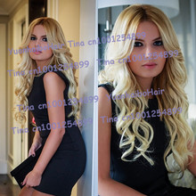 best 6a quality 10-30inch two tone #1bT#613 virgin brazilian loose wave ombre lace front wig Free shipping