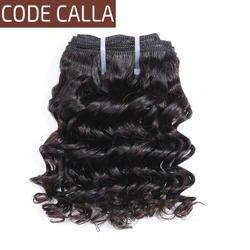 Код Калла короткий-cut человеческие волосы предварительно цветные сырье девственные пучки 3 шт./лот 6 дюймов бразильский глубокий вьющиеся