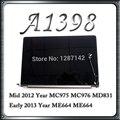 Оригинальный A1398 ЖК-Экран Дисплея в Сборе Для Macbook Retina 15 ''A1398 Середине 2012 В Начале 2013 Года MC975 ME664
