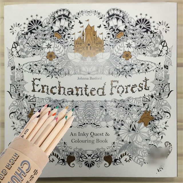 Enchanted Forest Secret Garden Coloring Book For Adults 96pages Adult Painting Antistress Books 2525cm
