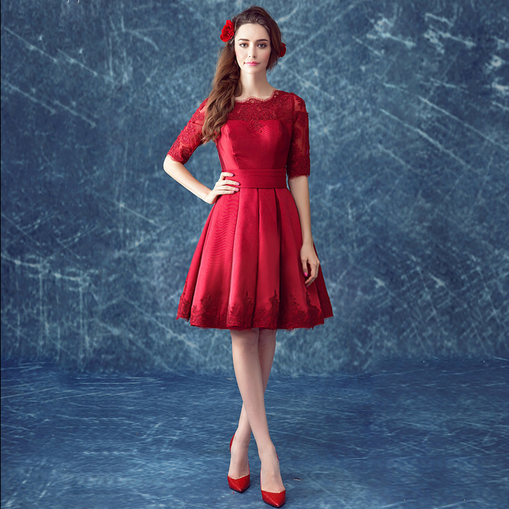 Red vintage lace dress