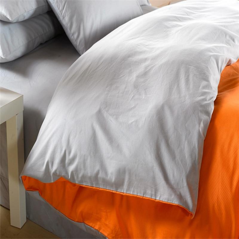 Orange silver grey bedding set King size queen quilt doona duvet ... : size queen quilt - Adamdwight.com