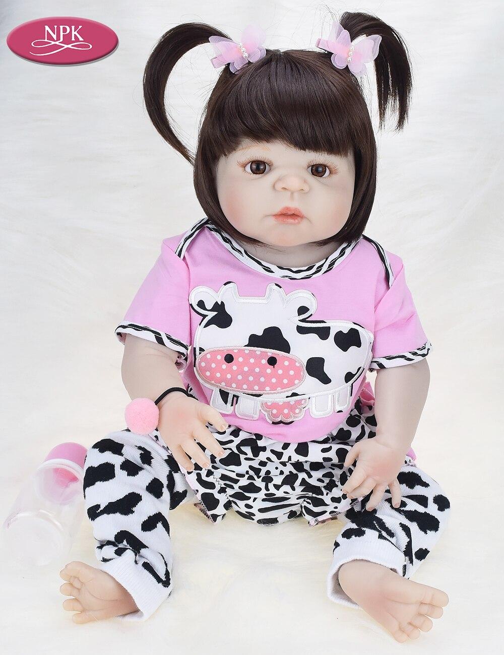 3b77c45b3 ... NPK Real 57CM Full Body SIlicone Girl Reborn Babies Doll Bath Toy  Lifelike Newborn Princess Baby ...