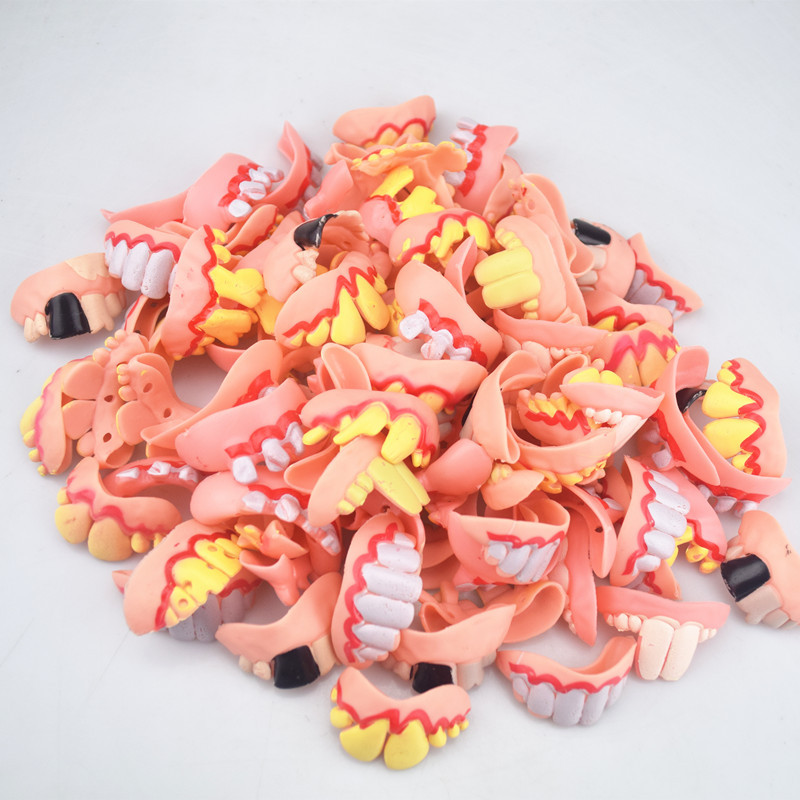 5pcs Halloween Decoration Funny Joke Tooth C Rotten Teeth Party Bags Fancy Dress Creative Prank Horror Toys Funny Gadgets