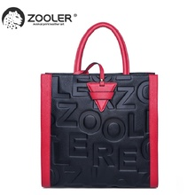 ZOOLER 2019 woman leather bags women famous brands luxury handbags genuine leather bag shoulder bags designed tote bolsos#YC201