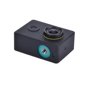 Image 3 - Funda protectora de silicona para Xiaomi Yi accesorios para Cámara de Acción + tapa de lente, para Xiaoyi Sport Cam