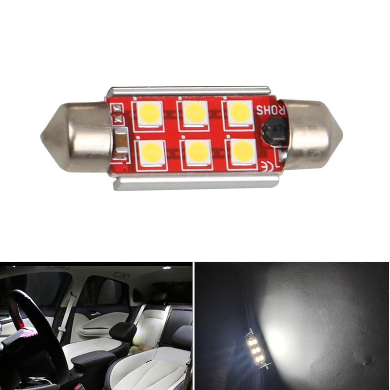 2x USA Ship White 16SMD LED Festoon Bulbs Car Interior Dome Map Light 42mm 211
