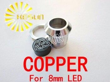 100PCS x 8mm Copper LED Holder Socket for 8mm LED Diodes