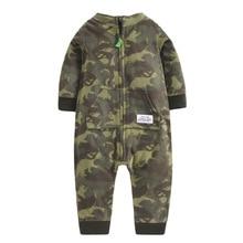 Купить с кэшбэком Christmas Spring Autumn Baby Clothing Newborn Soft Fleece Rompers 9-24m Infant Jumpsuit Baby Cartoon Costumes Pajamas