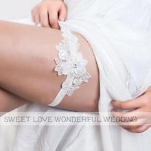 Свадебные Подвязки, стразы, белый кружевной цветок, сексуальные подвязки для женщин/невесты, кольцо на бедро, подвязки для ног невесты