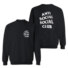 3d Hoodie Männer Anti Sozialen Social Club Langarm O hals 3D Hip Hop Sweatshirt Buchstabedrucken herren Sweatshirts Freies Schiff 3XL