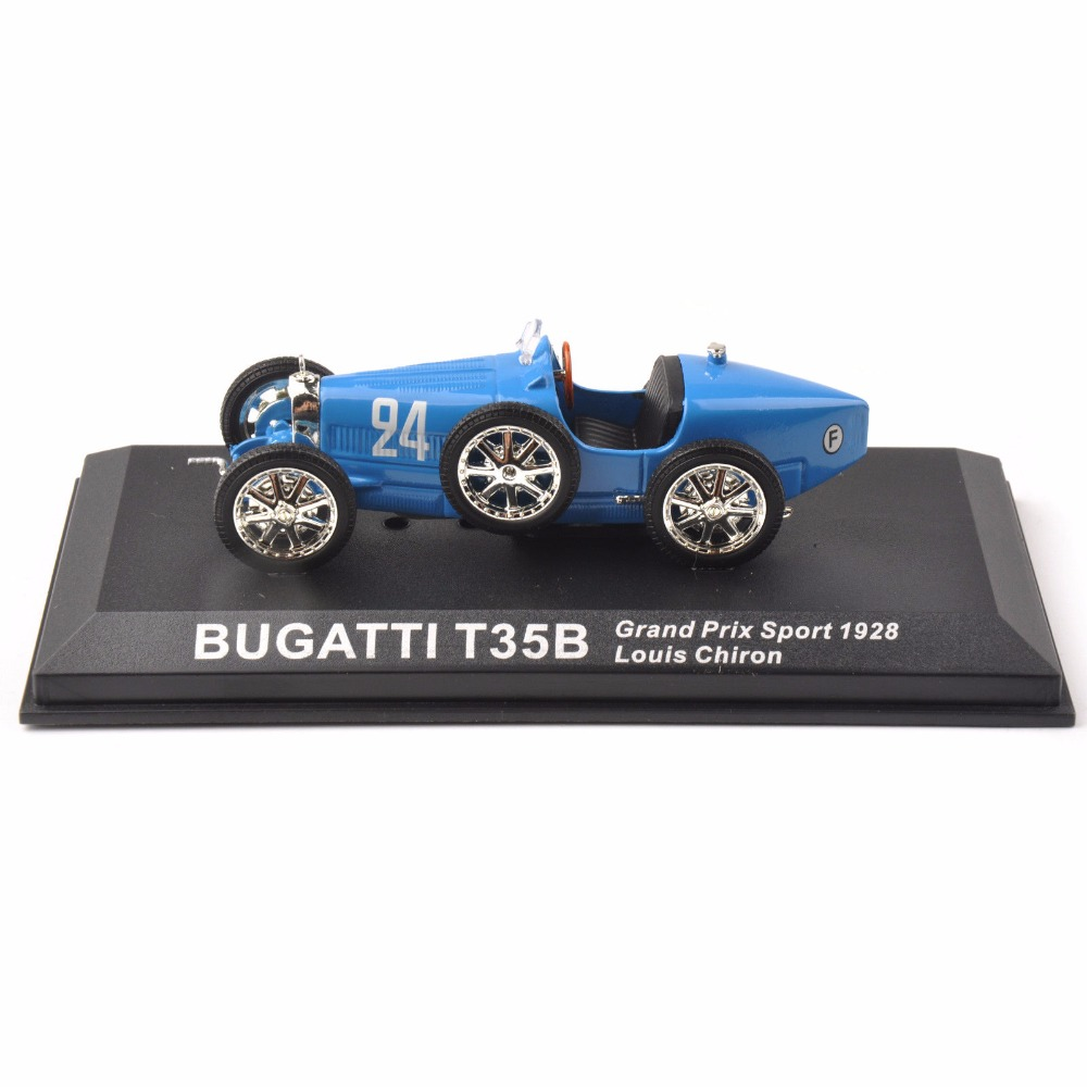 Diecast 1/43 Blue Bugatti T35B Grand Prix Sport 1928 Louis Chiron Classic Car Cheap Kids Toys