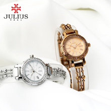 Top Julius Lady Women's Watch Japan Quartz Hours Fine Fashion Clock Beads Chain Bracelet Clover Business Girl Birthday Gift Box