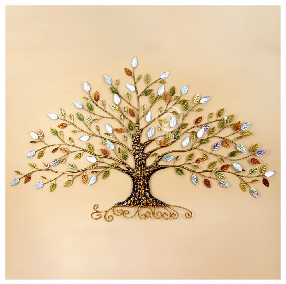 Metal Rich Tree Handpainted Iron Wall