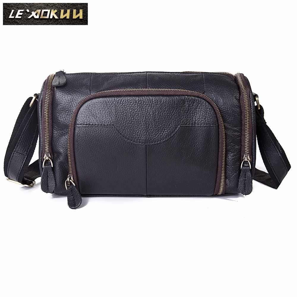 Оригинальная кожаная мужская модная сумка через плечо сумка-мессенджер дизайнерская сумка Mochila Университет колледж книга школьная Студенческая сумка b258b