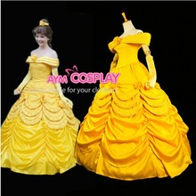 New Arrival Custom made Adult Belle Dress Cosplay Costume Park Dress For Reunion Halloween