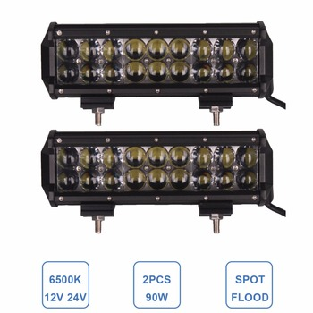 9 Inch OFFROAD LED WORK LIGHT BAR 90W 12V 24V CAR ATV SUV PICKUP TRUCK TRAILER WAGON CAMPER 4WD FARM TRACTOR HEADLIGHT INDICATOR
