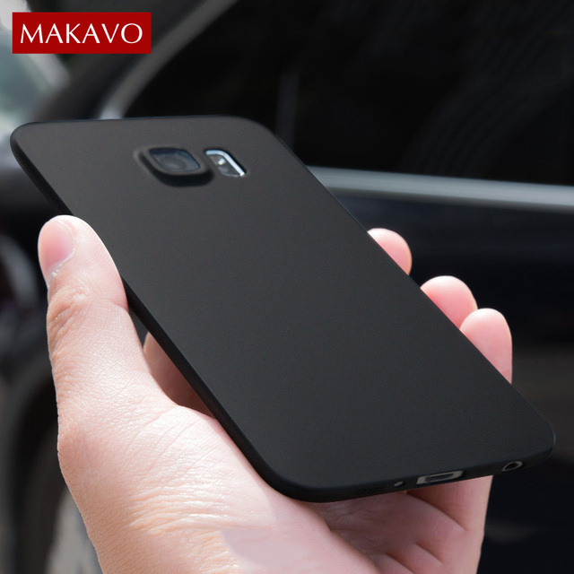 more photos 48c0c 19679 US $2.99 30% OFF|MAKAVO Cover For Samsung Galaxy S7 Edge Case 360  Protection Soft Silicone Matte Housing For Samsung Galaxy S6 Edge Phone  Cases-in ...