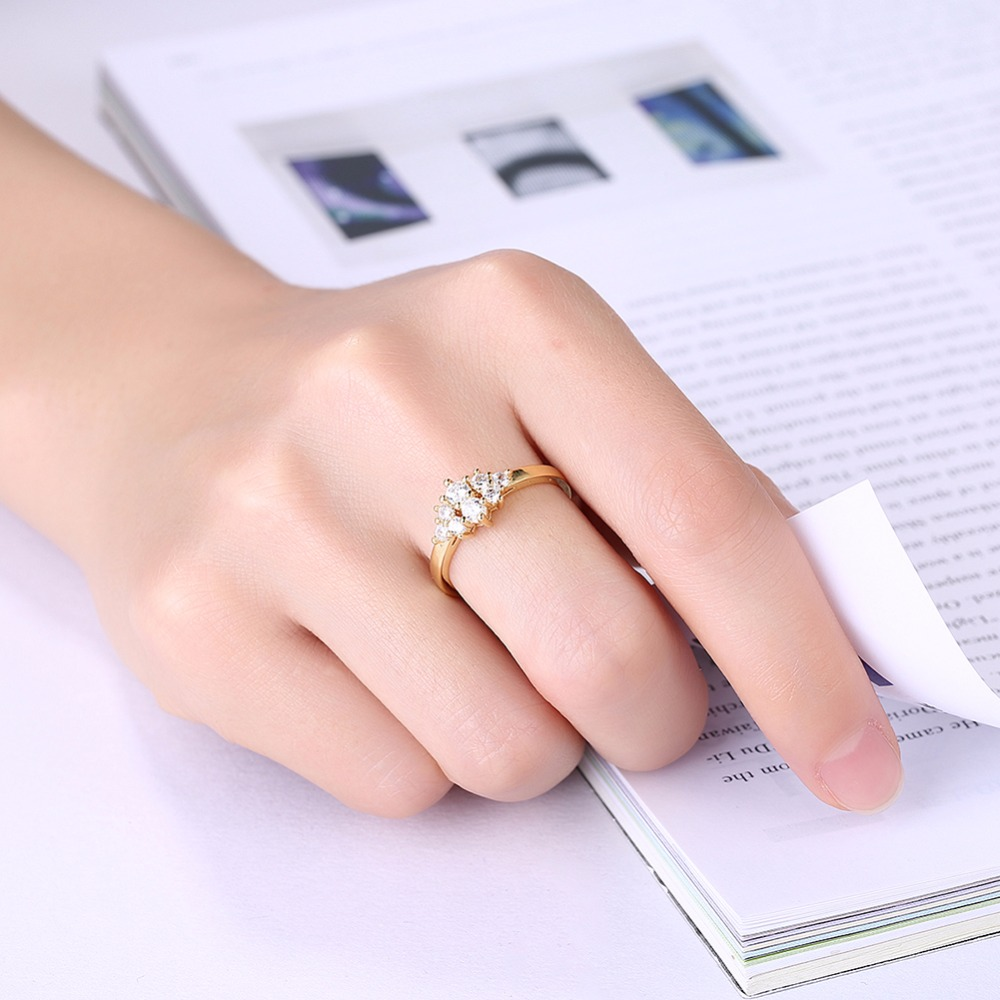 Women\'s Jewelry Rings Size #10 #9 #8 #7 #6 8K gold/white goid ...