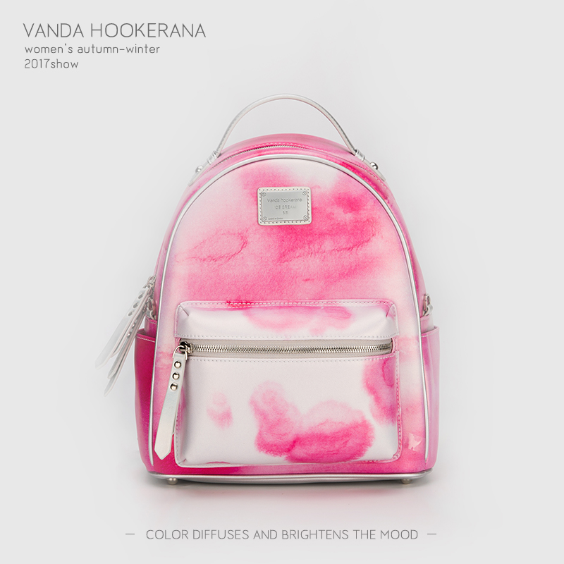 Vanda Hookerana 2017 Women Backpack Colorful Fashion Art Bags Strawberry Color Female Personality Trend Bags Microfiber Backpack vanda robert s delight купить