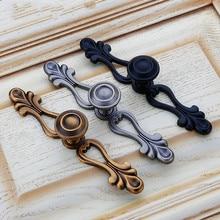 JD negro cajón armario cocina manija China bronce baño tocador puerta gabinete aleación de Zinc muebles manija Hardware