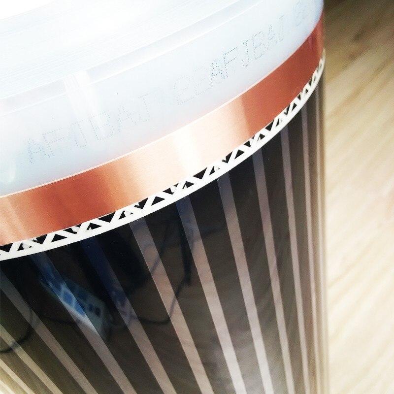 8m2 280 W/m2 220V ไฟฟ้าฟิล์มอินฟราเรดอุณหภูมิต่ำไฟฟ้าคาร์บอนฟิล์มความร้อนความร้อนชั้น mat-ใน แผ่นทำความร้อนไฟฟ้า จาก บ้านและสวน บน   3