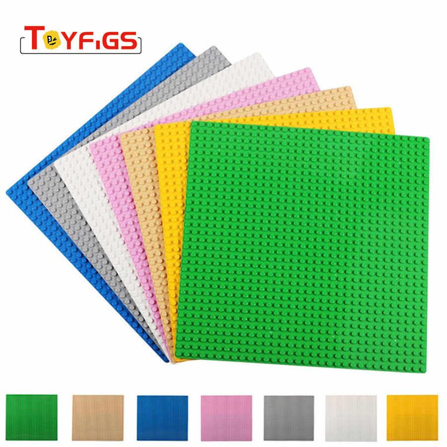 LEGOINGLY Duplos пластины основания для кирпичей 5 цветов плинтус доска DIY Building Block игрушечные лошадки детей Совместимость с legoed