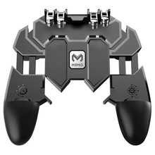 AK66 Six Fingers PUBG Controller Game pad Metal Trigger Shooting Fire Gamepad Joystick For IOS Android Mobile Phone