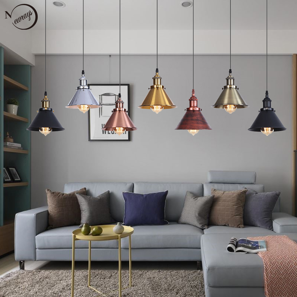 vintage metal simple creative pendant lamp E27 220V LED pendant lights fixture for Living room dining room restaurant hotel cafevintage metal simple creative pendant lamp E27 220V LED pendant lights fixture for Living room dining room restaurant hotel cafe
