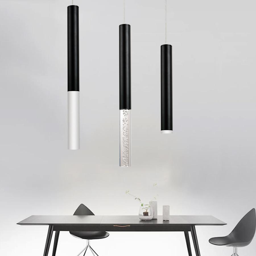 US $18.75 25% OFF|Led Anhänger Lampe Hängen lampe Küche Insel Esszimmer  Shop Bar Zähler Dekoration Zylinder Rohr Küche Lampen-in Pendelleuchten aus  ...