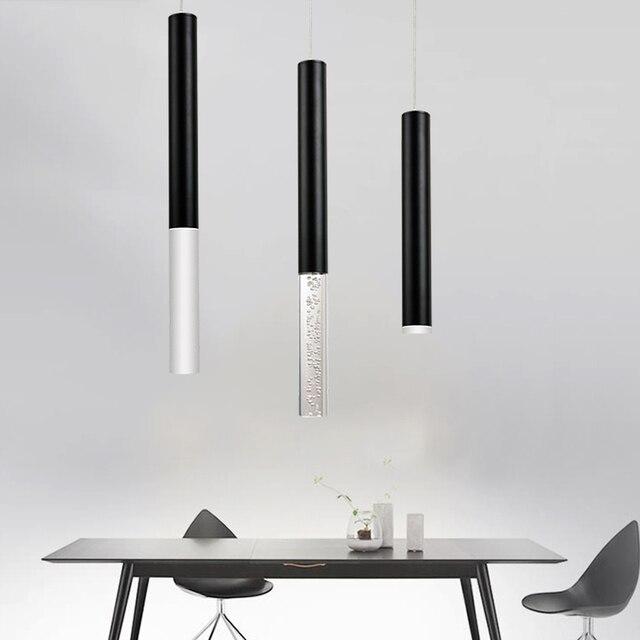 Led Anhänger Lampe Hängen lampe Küche Insel Esszimmer Shop Bar Zähler  Dekoration Zylinder Rohr Küche Lampen