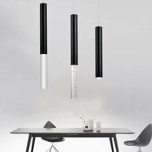 led Pendant Lamp cylinder light Kitchen Island Dining Room Shop Bar Counter Decoration Cylinder Pipe Pendant Light Kitchen Lamps