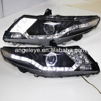 Head Lamp For Honda for City 2008-2011 year LED Angel Eyes Headlight Black Color DZG